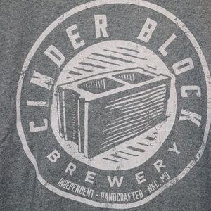 Cinder Block Brewery Craft Beer IPA Shirt Large